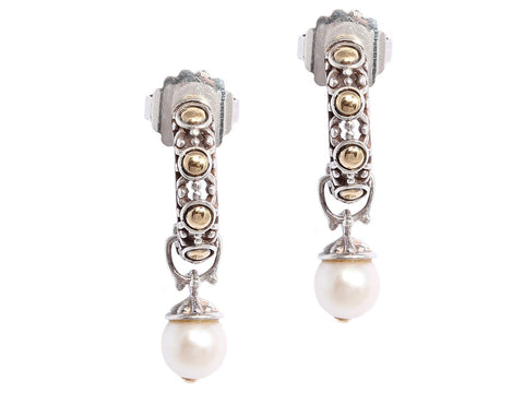 John Hardy Pearl Earrings