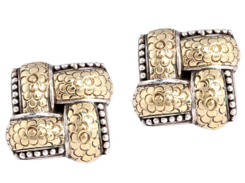 John Hardy Two Tone Earrings