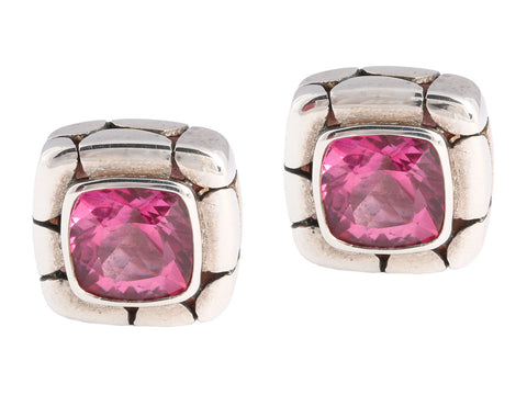 John Hardy Pink Topaz Batu Kali Earrings