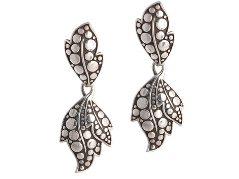John Hardy Ayu Dot Leaf Drop Earrings