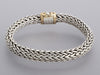 John Hardy Sterling Silver and 18K Yellow Gold Mens Classic Chain Bracelet
