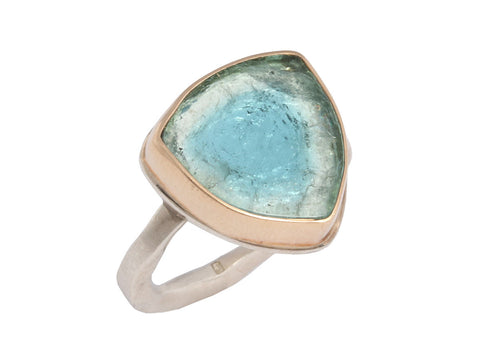 Jamie Joseph Blue Tourmaline Slice Ring