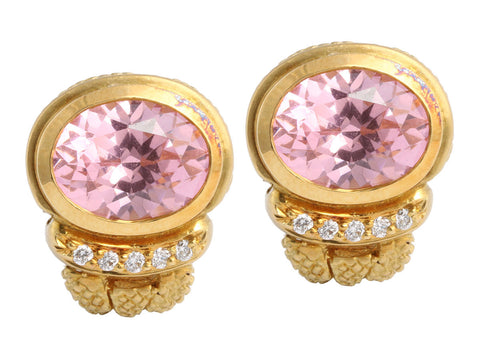Judith Ripka 18K Pink Earrings