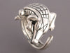 Kieselstein-Cord Sterling Silver Alligator Ring