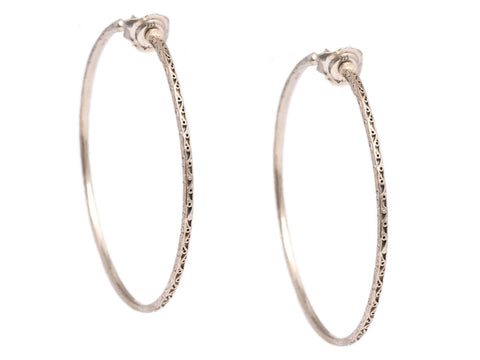 Konstantino Large Sterling Silver Hoop Earrings