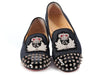 Louboutin Denim Spiked Harvanana Loafers