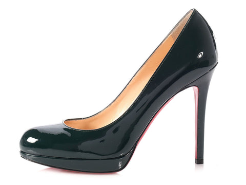 Christian Louboutin English Green Patent New Simple Pump 120