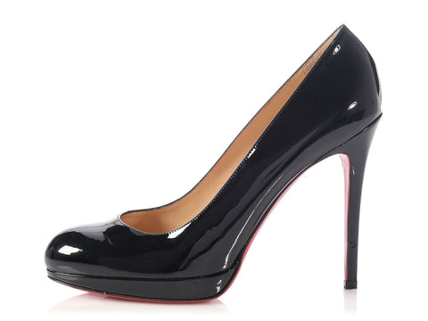 Christian Louboutin Black Patent New Simple Pumps