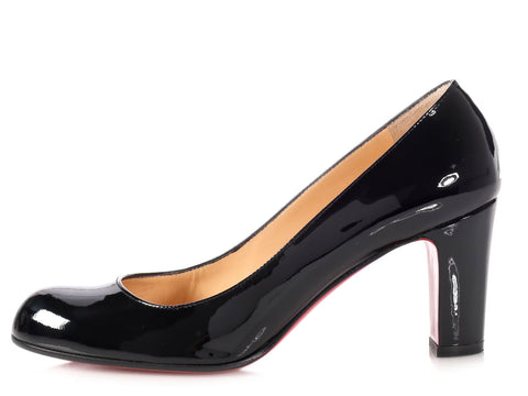 Christian Louboutin Black Patent Miss Tack 70 Pumps