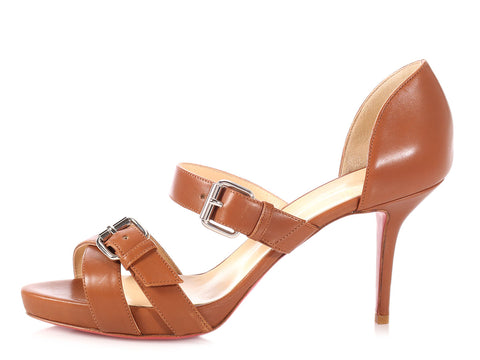 Christian Louboutin Brown Sandals
