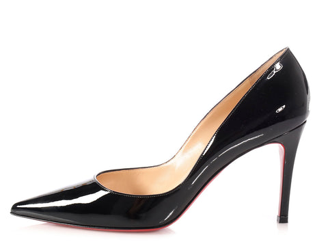 Christian Louboutin Black Patent New Decoltissimo 85 Pumps