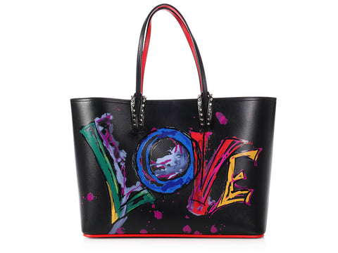 Christian Louboutin Cabata Calf Paris Love Tote