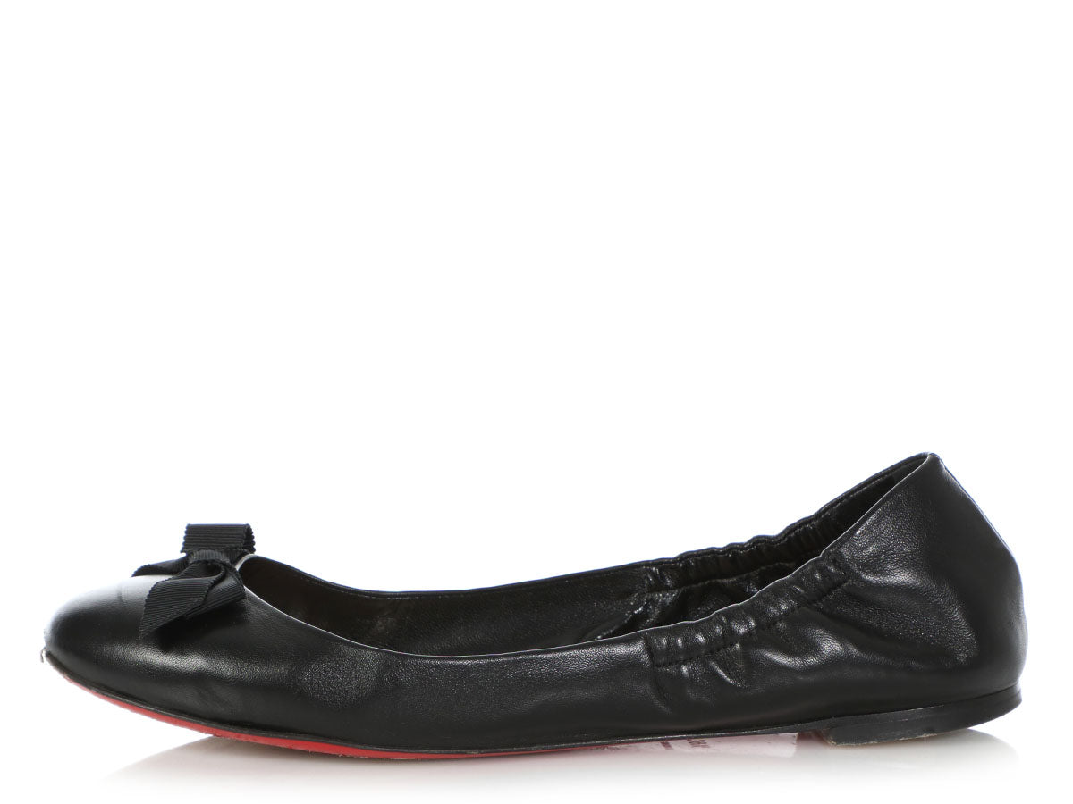 watch 72187 be41b Christian Louboutin Black Gloriana Flats