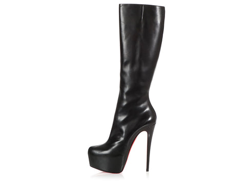 Christian Louboutin Black Daf Knee-High Boots
