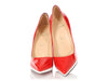 Christian Louboutin Red Patent Pigalle Plato Pumps