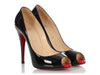 Christian Louboutin Black Open-Toe Pumps