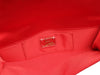 Christian Louboutin Red Satin Canta Bow Clutch