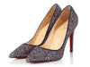 Christian Louboutin Rose Antique and Black Glitter Pigalle 100 Pumps