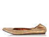 Lanvin Gold Leather Ballet Flats