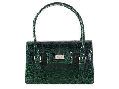 Lambertson Truex Emerald Crocodile Bag