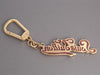 Louis Vuitton Pink and Gold Key Chain