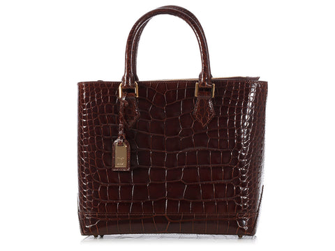 Louis Vuitton Havane Alligator Lancelot Handbag