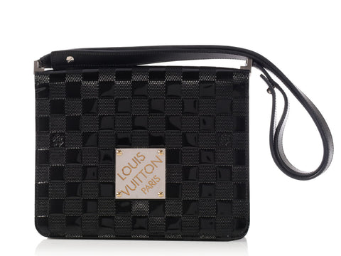 Louis Vuitton Black Damier Vernis Cabaret Bag