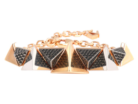 Louis Vuitton Black Spikey Zig Zag Bracelet