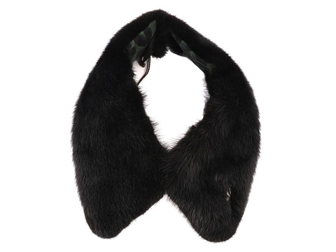 Louis Vuitton Black Mink Collar