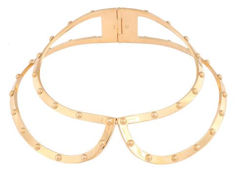 Louis Vuitton Gold Lock Me Frame Collar