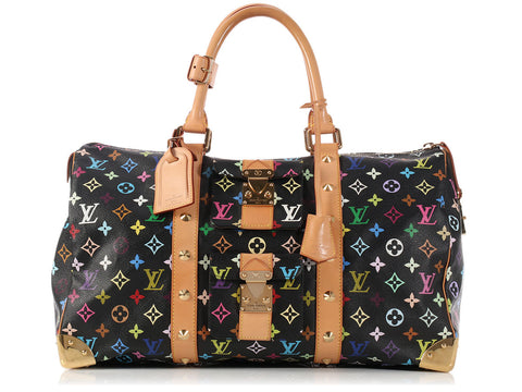 Louis Vuitton Black Multicolore Keepall 45