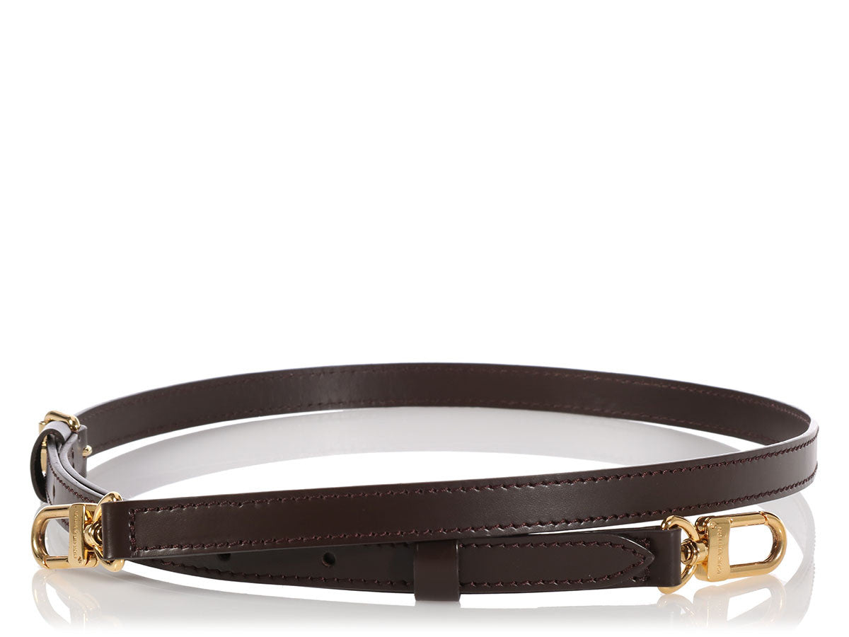 Louis Vuitton Long Dark Brown Leather Strap