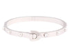Louis Vuitton 18K White Gold Clou Bangle