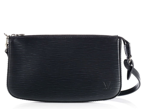 Louis Vuitton Black Epi Pochette
