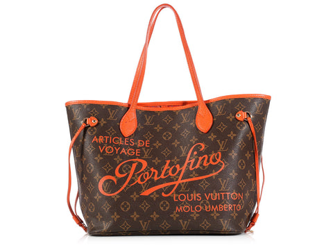 Louis Vuitton Orange Ikat Portofino Neverfull MM