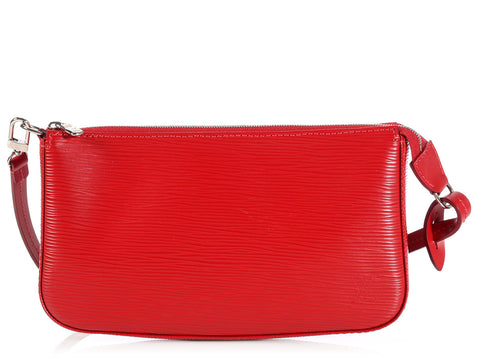 Louis Vuitton Red Epi Pochette Accessories
