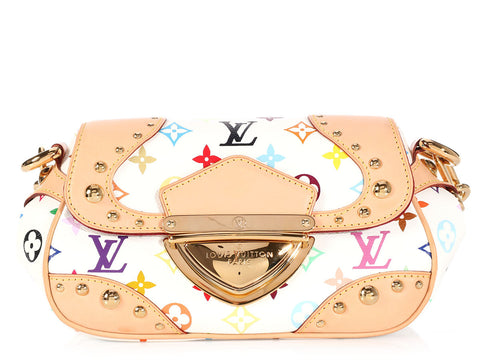 Louis Vuitton White Multicolor Marilyn