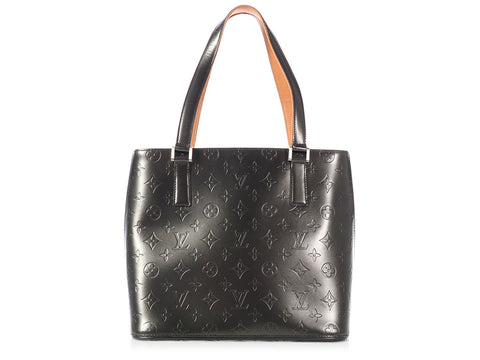 Louis Vuitton Black Monogram Mat Stockton Tote