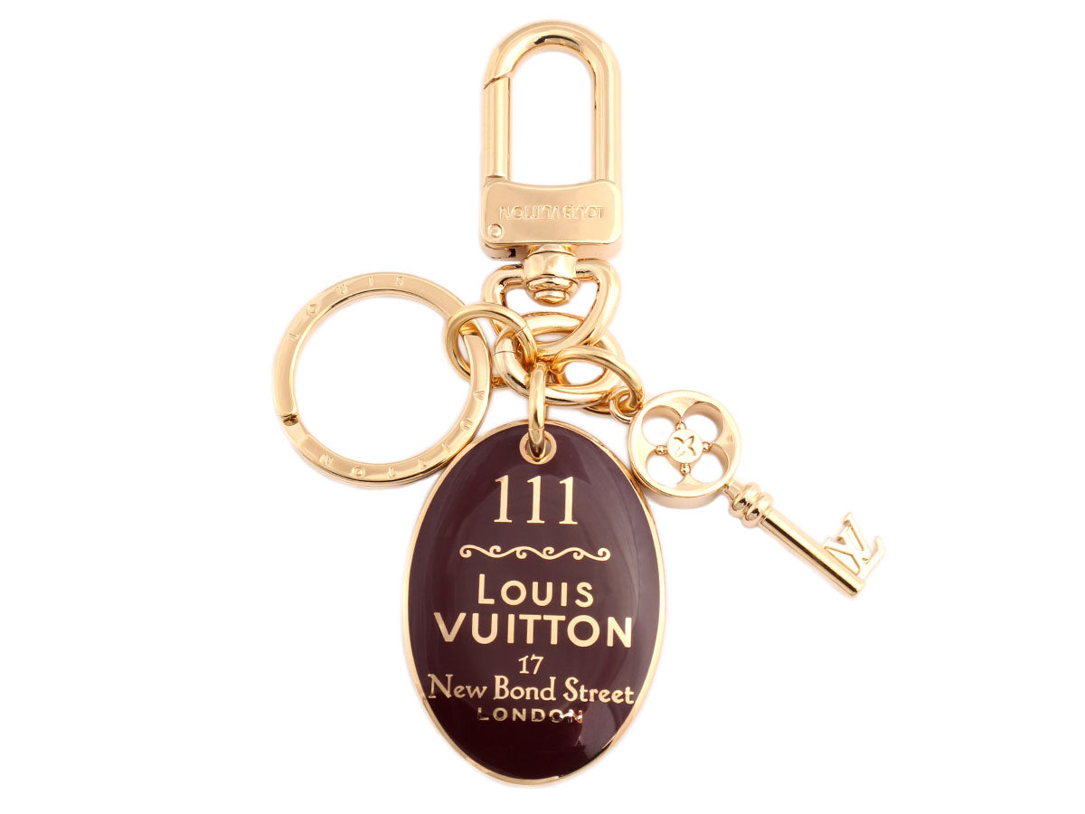 Louis Vuitton Purple Enamel London Maison Key Holder