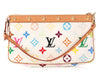 Louis Vuitton White Multicolore Monogram Pochette