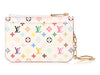 Louis Vuitton White Multicolore Monogram Pochette Clés