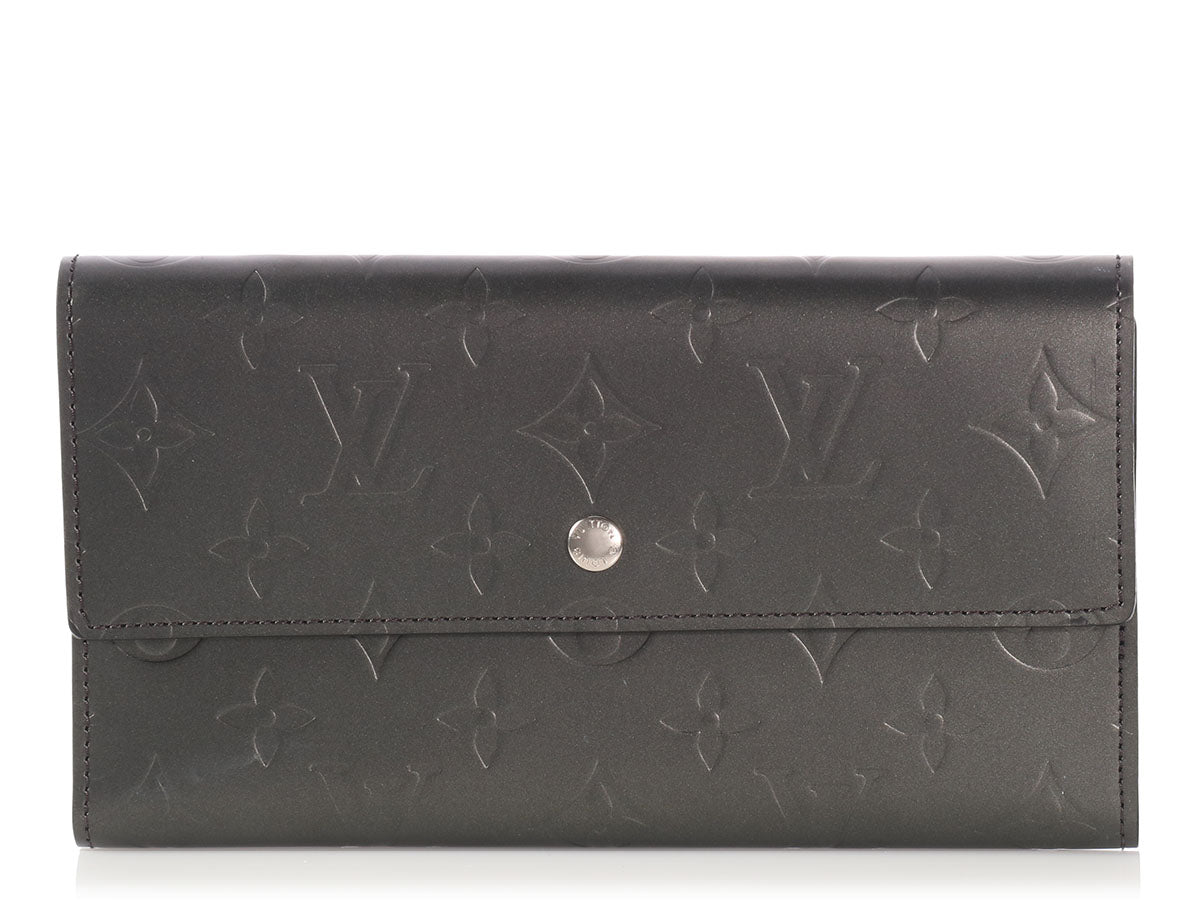 Louis Vuitton Pewter Monogram Mat Porte Tresor Wallet