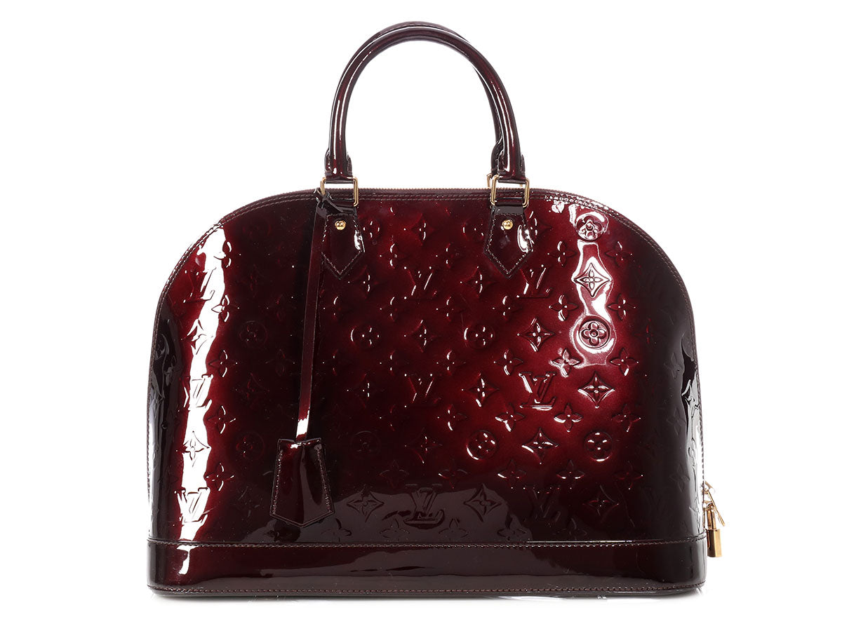 Louis Vuitton Amarante Monogram Vernis Alma GM