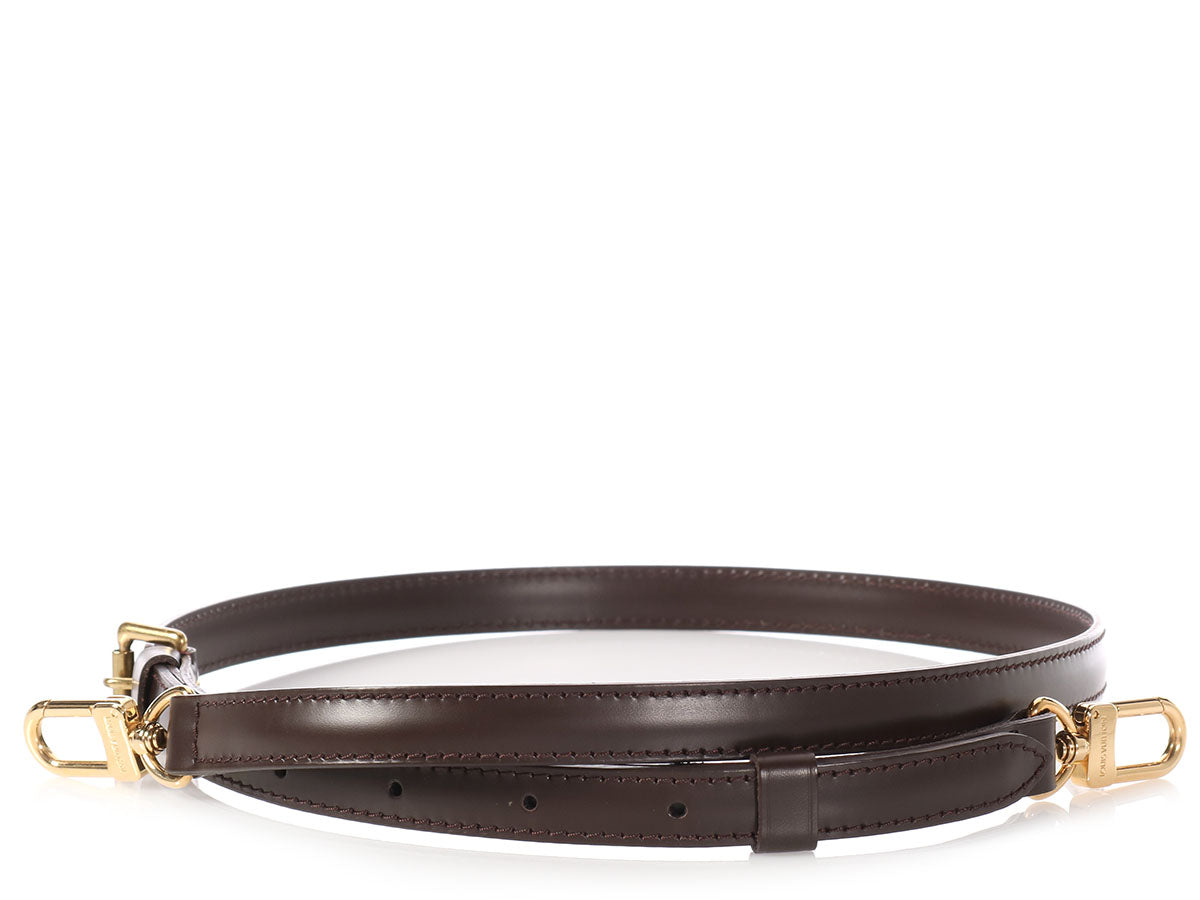 83f49b5f1e90 Louis Vuitton Ebène Leather Adjustable Shoulder Strap with Lock and Keys