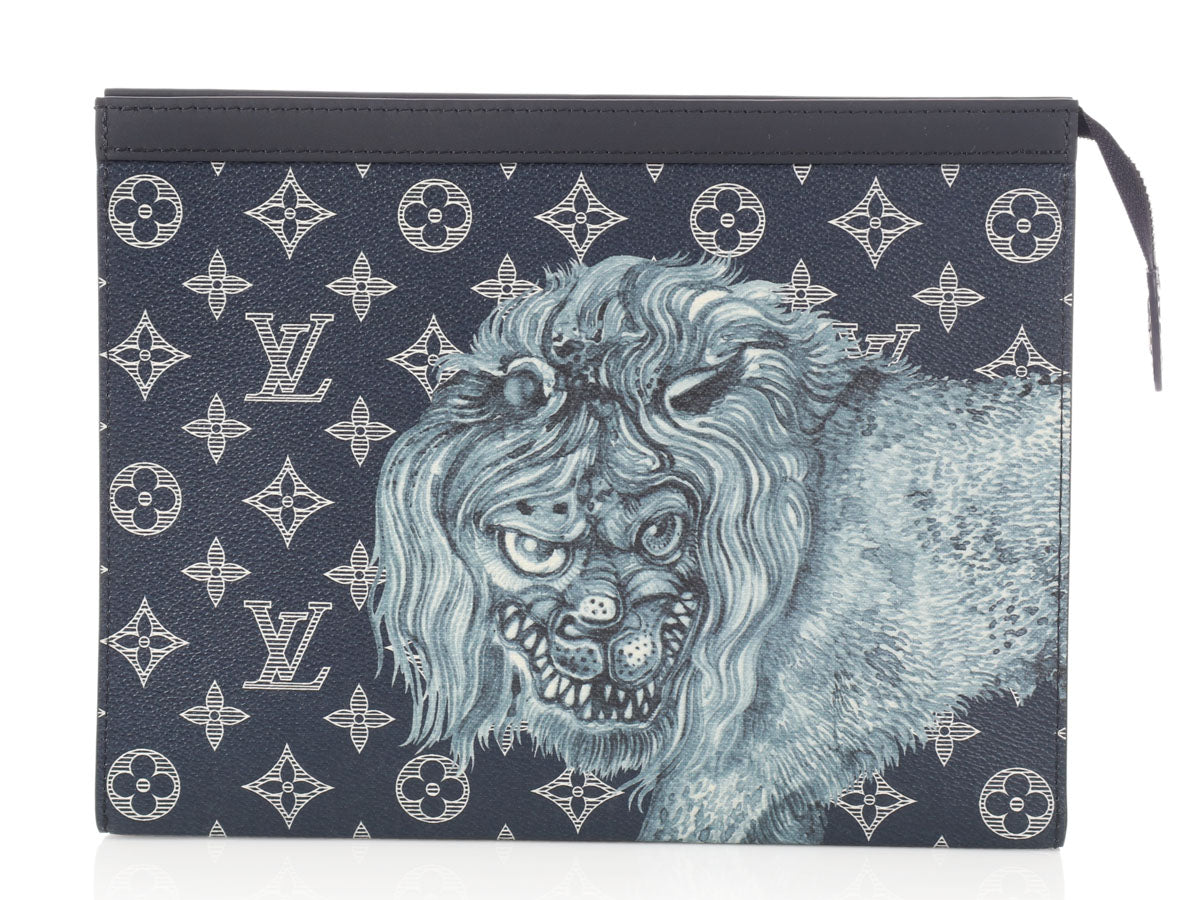 Louis Vuitton Chapman Brothers Ink Savane Lion Pochette MM