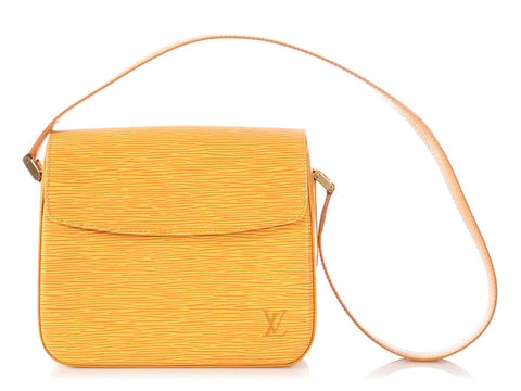 Louis Vuitton Yellow Epi Buci Bag