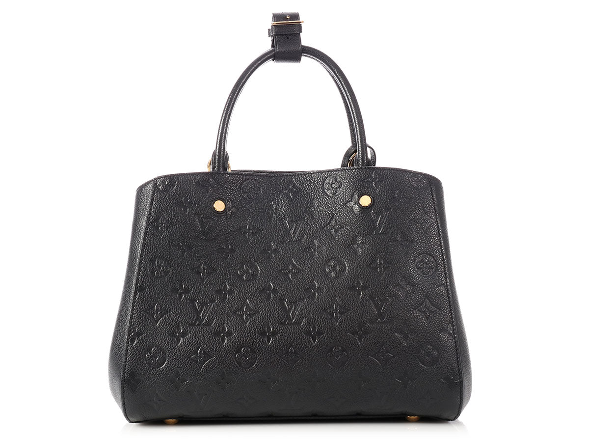 855006502224e Louis Vuitton Noir Monogram Empreinte Montaigne MM