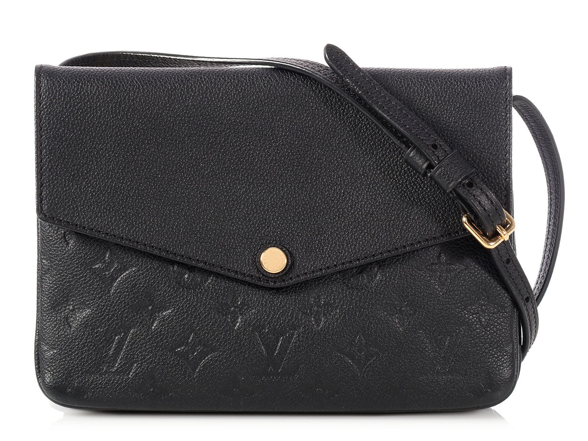 Louis Vuitton Noir Monogram Empreinte Twice Pochette