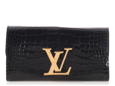 Louis Vuitton Black Alligator Capucines Wallet