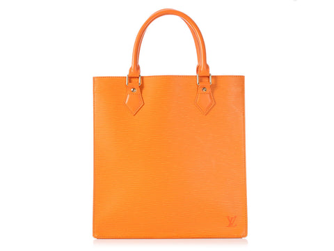 Louis Vuitton Orange Epi Sac Plat PM